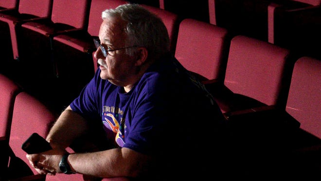 Alan Rose directs the dress rehearsal of a Mardi Gras-themed production at Westlake High School. Rose, who built the Westlake choral music program into a musical powerhouse during more than three decades at the school, will retire at the end of this year.