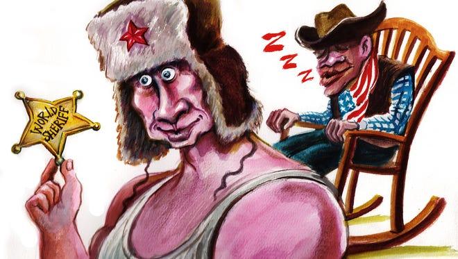 Christo Komarnitski, Bulgaria, drew this Desert Sun editorial cartoon for Oct. 23, 2015.