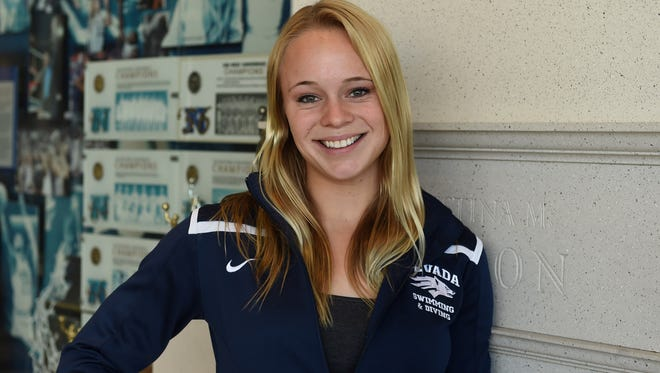 Nevada's Krysta Palmer is one of eight Wolf Pack athletes who will compete in the NCAA Championships this week.