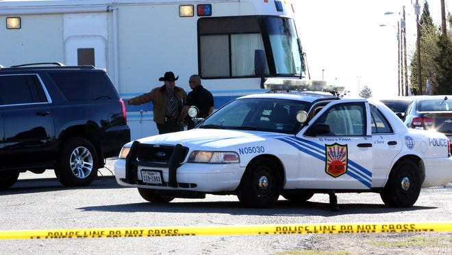 El Paso police investigate a fatal shooting along the 1200 block of Desert View Lane in Northeast El Paso in March.