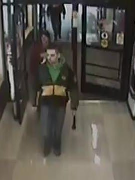 Suspects in the theft of a large amount of meat from the Kroger in Bucyrus are seen in a surveillance camera image.