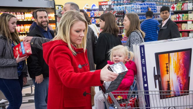 Black Friday shoppers at Walmart in 2014.