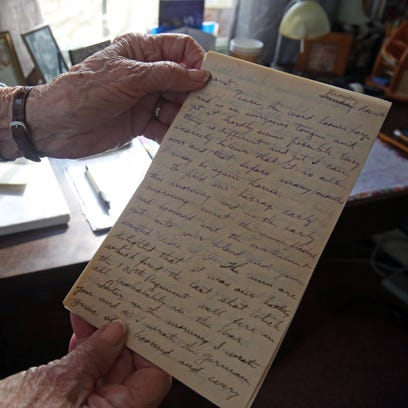 This is a view of a letter Douglas' father wrote to