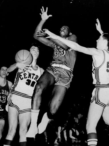 Oak Ridge City Councilman Willie Golden plays basketball