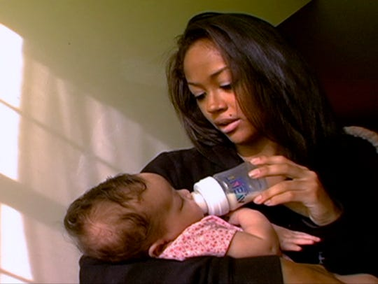 "Valerie Fairman from MTV''s '""16 and Pregnant""' with"