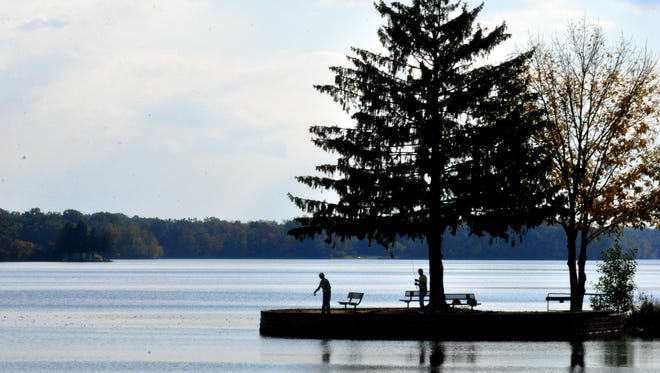 The lake at Gifford Pinchot State Park will be lowered beginning Monday.