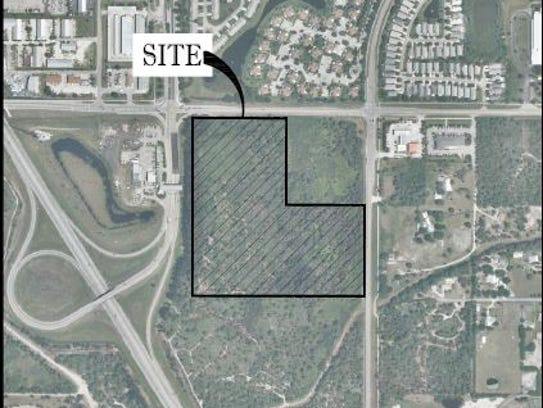 This is the Palm City site where Costco wants to build