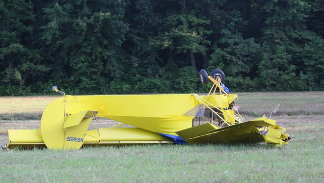 The Tate Township man who crashed this plane is expected to be OK, officials said.