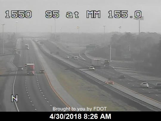 Interstate 95 opened shortly before 8:30 a.m. after