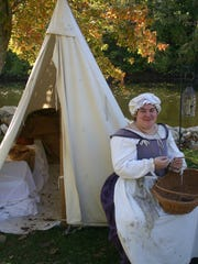 A Living History Encampment is one of the features at the Color Cruise and Island Festival.
