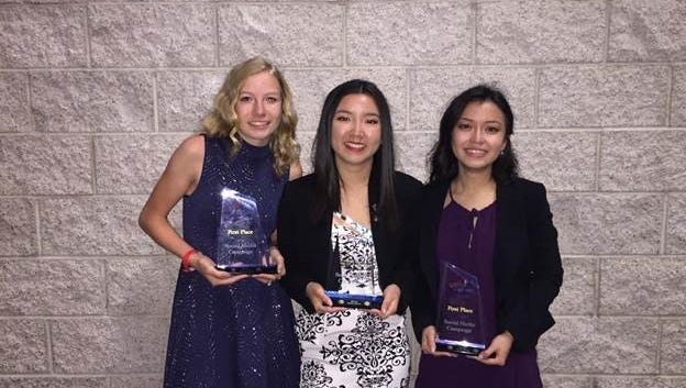 Three sophomores from Riverdale High School took top honors in a social media contest at the Future Business Leaders of America National Leadership Conference this summer.