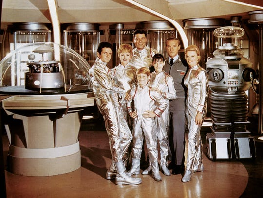 "The cast of the 1965 television program ""Lost in Space,"""