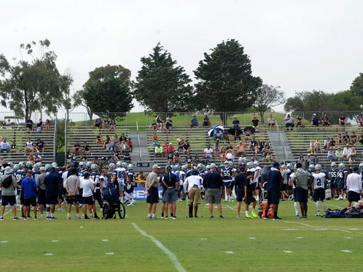 Getting Autographs At Dallas Cowboys Training Camp In Oxnard