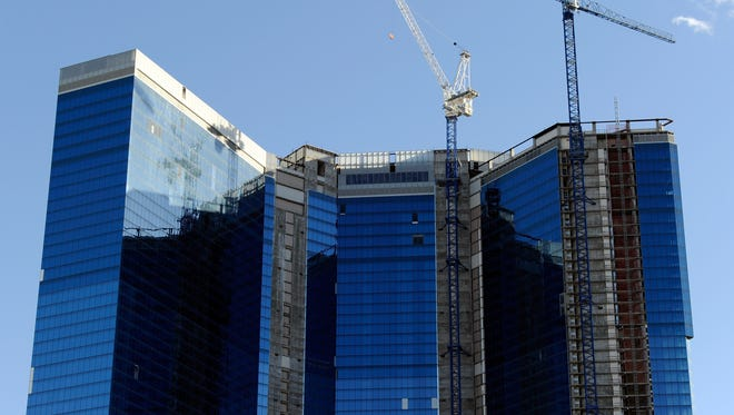 The stalled construction site of the Fontainebleau Las Vegas is seen May 11, 2011 in Las Vegas, Nevada.