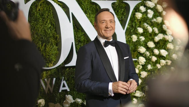 NEW YORK, NY - JUNE 11: Host Kevin Spacey attends the 2017 Tony Awards at Radio City Music Hall on June 11, 2017 in New York City.  (Photo by Mike Coppola/Getty Images for Tony Awards Productions) ORG XMIT: 700062837 ORIG FILE ID: 694959278