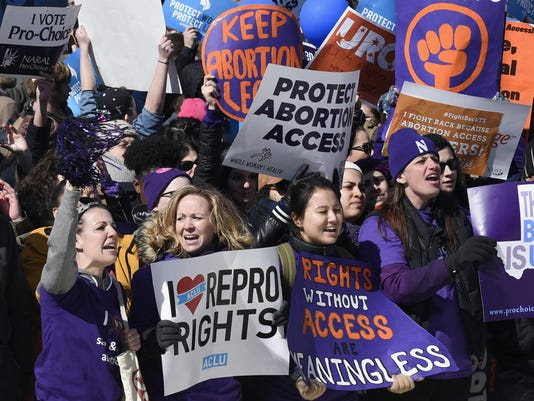 Abortion-right protesters
