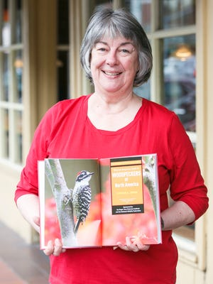 Stephanie Hazen with the Salem Audubon Society came to Holding Court on Tuesday, Feb. 14, 2017, to talk about a lecture series event on woodpeckers happening at the Salem Public Library.