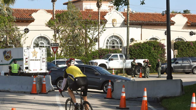 Traffic patterns change in the vicinity of Mar-a-Lago whenever President Donald Trump visits.