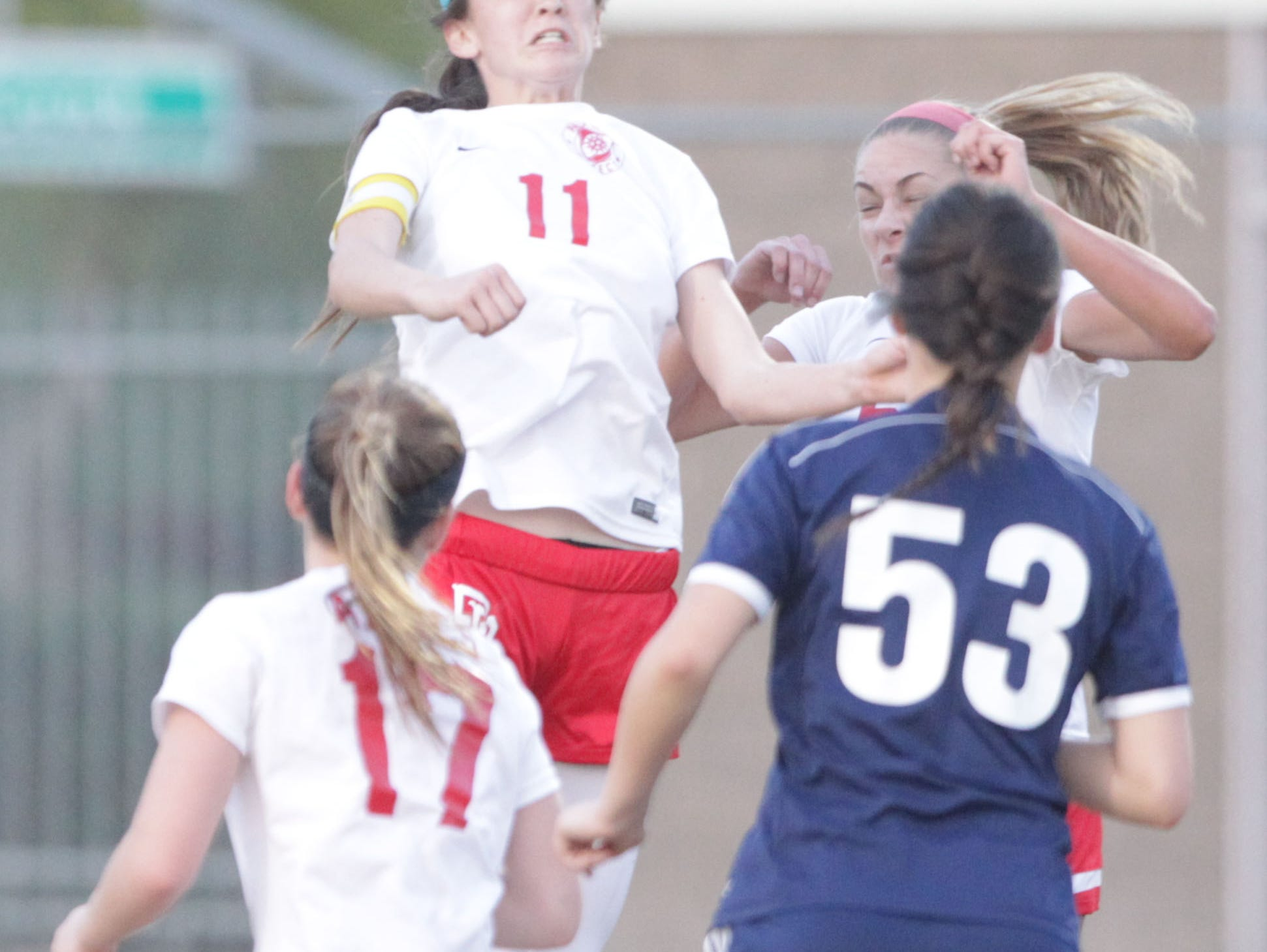 Jane Jordan of Palm Desert High School defended well but her team lost their CIF Game 1-0 to California High School of Whittier at Palm Desert.