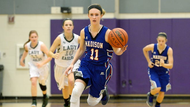 Madison senior Brooke Vilcinskas has committed to play college basketball for Mars Hill.