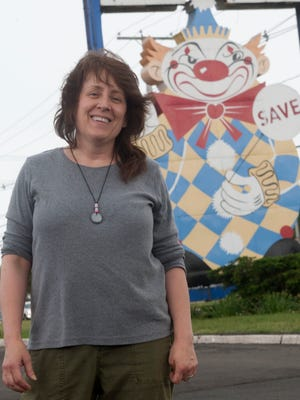 "Margie Rafferty, a lifelong Middletown resident, is leading a movement to save ""Calico the Evil Clown,"" the 65-year-old landmark figure on Route 35 North near Kings Highway East."