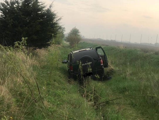 A vehicle got stuck on Bryan Road after the driver