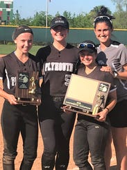 Plymouth's four-year senior captains (from left) Jenny