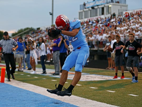 Glendale wide receiver Luke Montgomery caught 123 passes