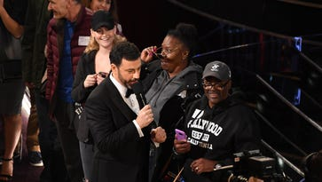 Gary and Vicky's wedding ceremony, conducted by Denzel Washington may not have been as legal as Jimmy Kimmel claimed but that won't make it any less memorable. He got to hold Mahershala Ali's Oscar and she got Jennifer Aniston's sunglasses as a wedding gift.