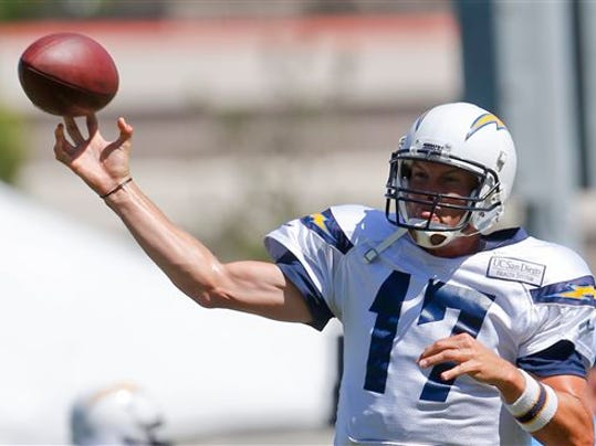LENNY IGNEIZI -- THE ASSOCIATED PRESS San Diego Charger quarterback Philip Rivers is a good choice for fantasy owners after finishing sixth in fantasy points at his position in 2013.