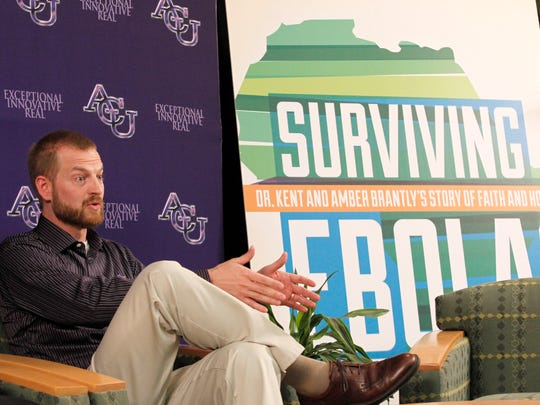 Dr. Kent Brantly speaks at Abilene Christian University in November 2014. Brantly earned his bachelor's degree from ACU.