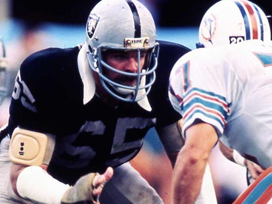 Former UT All-American Mickey Marvin played 11 seasons with the Oakland Raiders, starting for two Super Bowl championship teams.