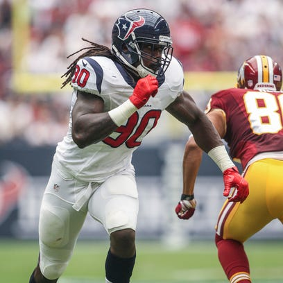 Sep 7, 2014; Houston, TX, USA; Houston Texans linebacker
