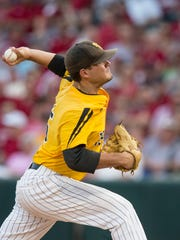 Southern Mississippi's Stevie Powers pitches during