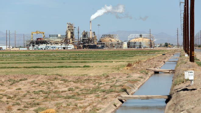 CalEnergy's Hoch geothermal plant churns out electricity near the southern shore of the Salton Sea on July 28, 2015.
