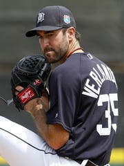 Justin Verlander allowed six hits and struck out two in his five-inning outing Sunday.