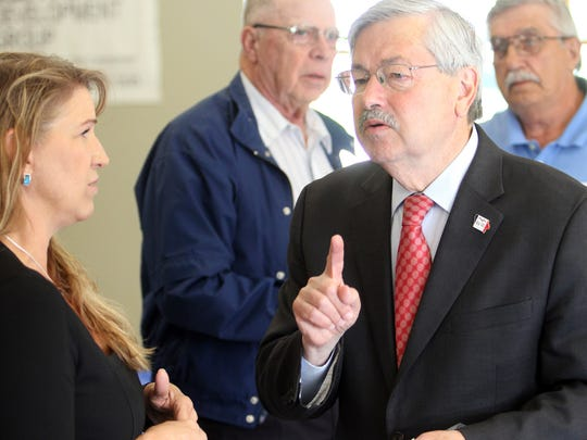 Gov. Terry Branstad at development breakfast in Van Horne on Thursday, June 30.