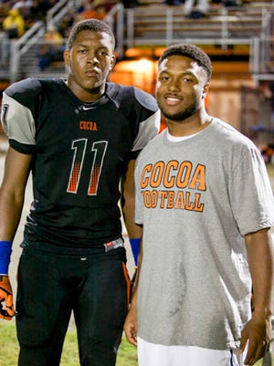 James Folston Jr. (left) and Tarean Folston come from a pedigree of pro athletes. Their father, James, was a standout in the NFL for the Raiders and Cardinals.
