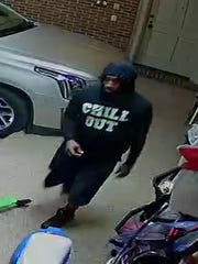 Police are searching for a man wanted in connection to a home break-in on June 9.