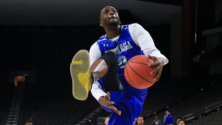 Seton Hall Pirates guard Quincy McKnight during practice