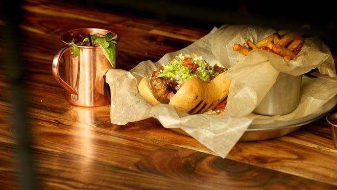 A hot dog meal at Wurst Bar.