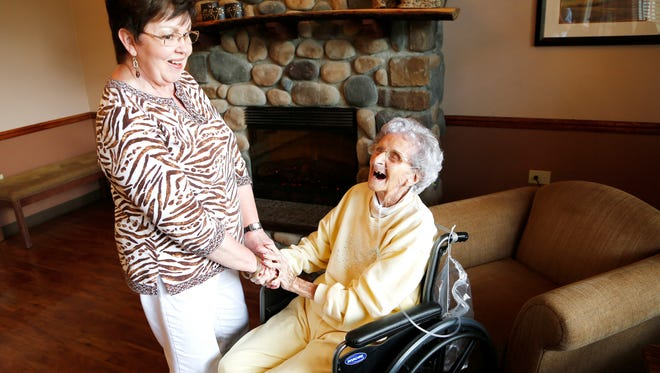 """Judy Nolan, left, calls Gertrude Hamilton """"a very pleasant lady. Very knowledgeable."""""""