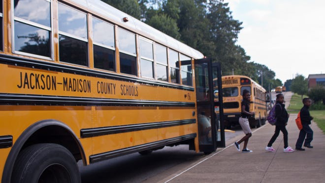 File - Jackson-Madison County School bus