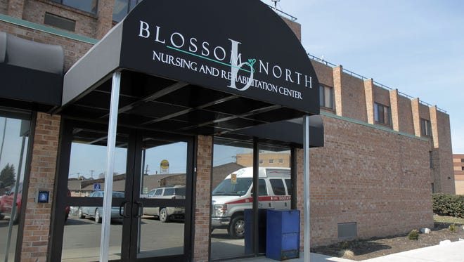 The building front of Blossom North, a nursing and rehabilitation center, located at 1335 Portland Avenue.