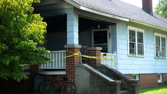 A man's home on Young Street caught fire after he was smoking cigarettes early Monday morning.