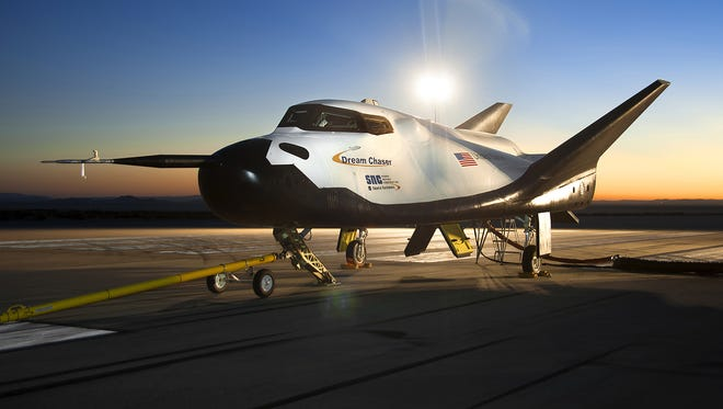 In August, the Sierra Nevada Corp. Dream Chaser flight vehicle was prepared for 60mph tow tests on taxi and runways at NASA's Dryden Flight Research Center at Edwards Air Force Base in California.