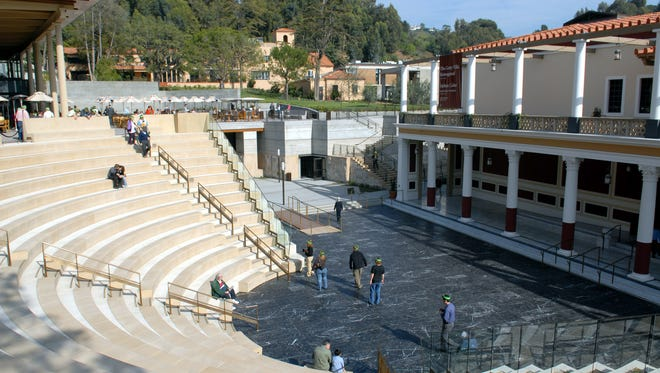 In this photo released by the J. Paul Getty Trust, An overall view of the 450-seat outdoor classical theatre outside the J.Paul Getty Museum in Malibu, Calif., is seen Jan. 28, 2006.
