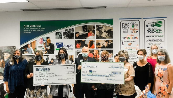 The Capper Foundation received over $30,000 after a month of fundraising through the EnvistaCares Challenge.