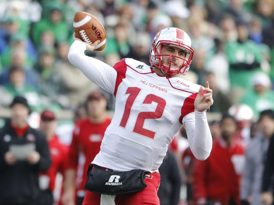 Western Kentucky quarterback Brandon Doughty leads