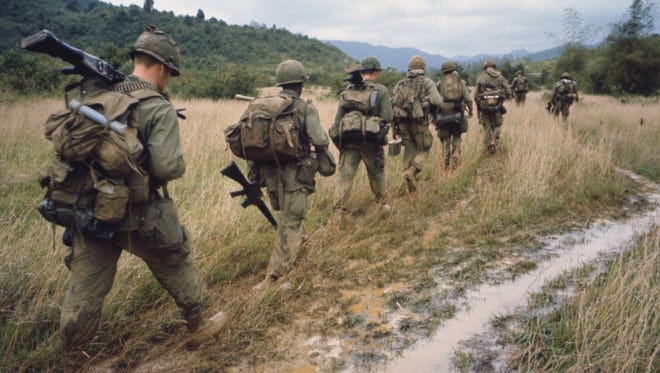 "Soldiers patrol in ""The Vietnam War,"" a 10-part, 18-hour PBS series created by Ken Burns and Lynn Novick."